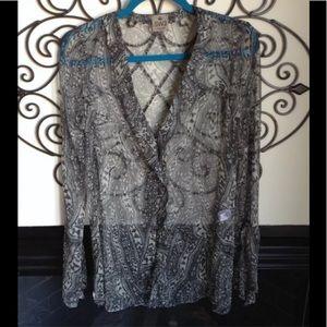 SW3 bespoke 100% silk blouse S button front blouse